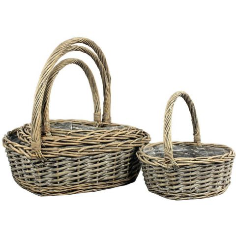 Heart Garden Planters or Flower Arranging Baskets